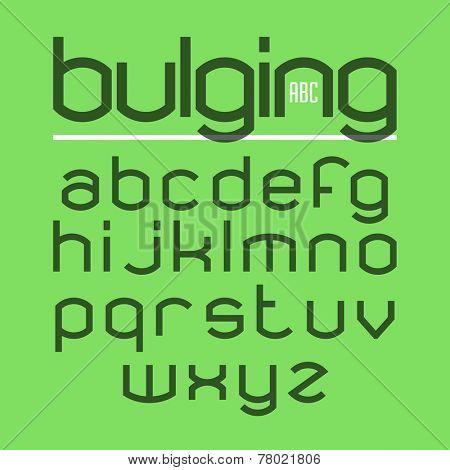 Bulging alphabet. Vector.
