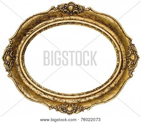 Golden Oval Picture Frame Cutout poster