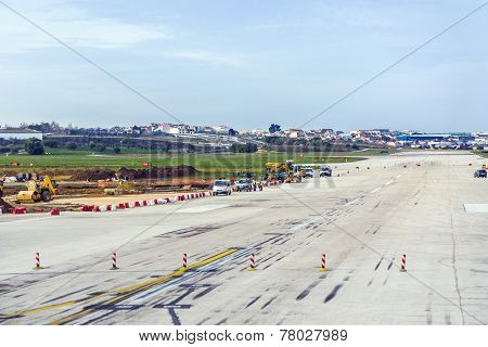 View To Terminal Of The Airport In Lisbon, Portugal