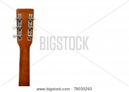 guitar fingerboard with tensioners on white background poster