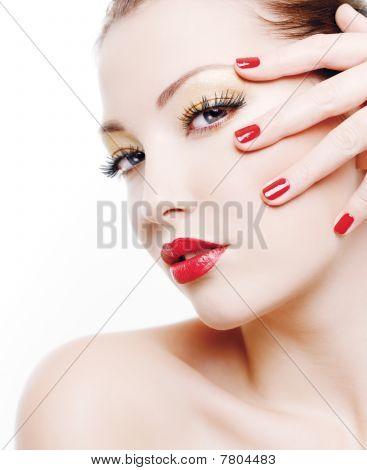 Portrait Of Glamour Woman
