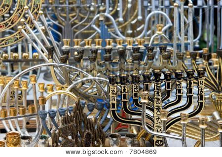 The Jewish Holiday Candlesticks Background.