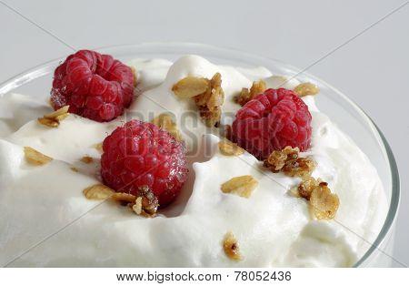 Dessert With Rasberries.