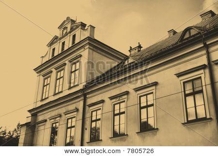 Facade Of The Episcopal Palace In Krakow