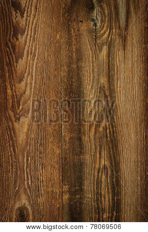 Brown rustic wood grain texture as background poster
