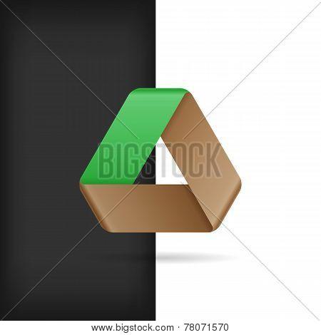 Logo Or Emblem Template. Infinite Mobius Strip. Eco Friendly Con