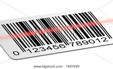Image barcode been scan by the barcode reader poster