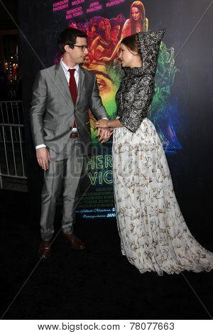 LOS ANGELES - DEC 10:  Joanna Newsom, Andy Samberg at the