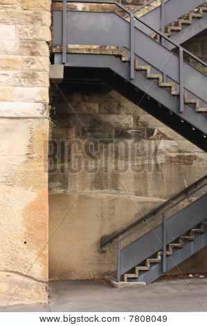 Outdoor Metal Staircase