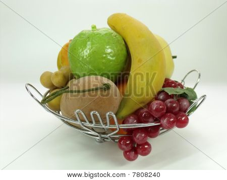 Mix fruit in basket.