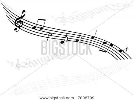 Illustration of  stave on white background