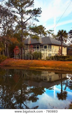 House over a pond