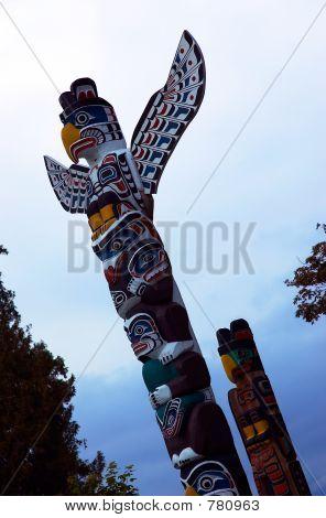 Totem Pole: Flying eagle.