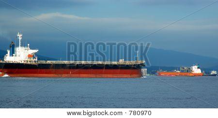 Oil tankers in harbor