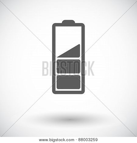 Charging the battery. Single flat icon on white background. Vector illustration. poster