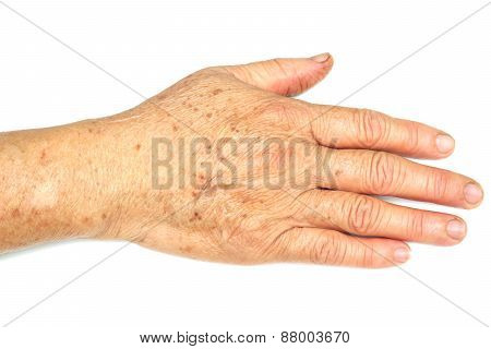 hand of female elderly