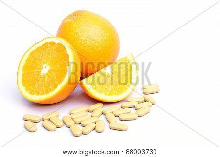 navel orange and vitamin c