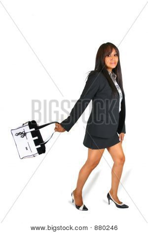 Business Woman With Handbag