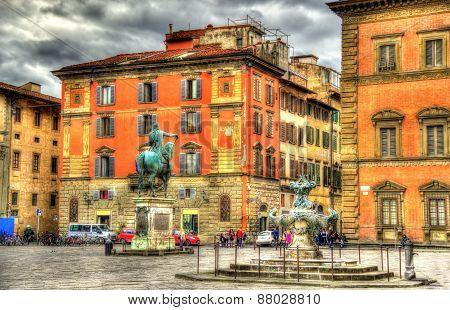 Santissima Annunziata square in Florence - Italy poster