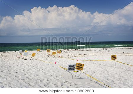 Oil Spill Recovery Signs, Gulf Coast