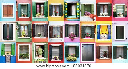Burano windows