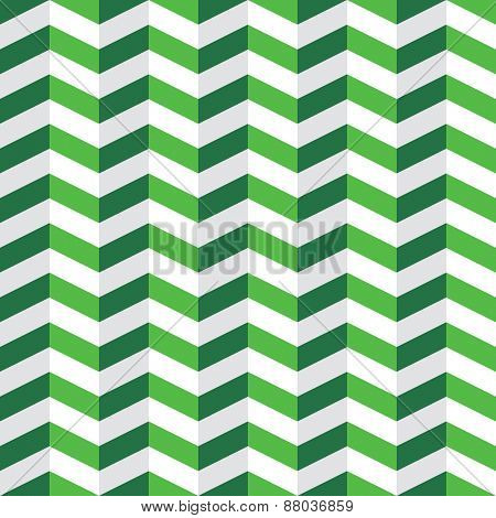 Seamless pattern with green and white chevron