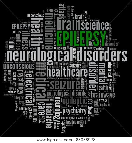 Epilepsy in word collage