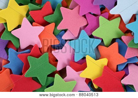 Colorful stars for decoration