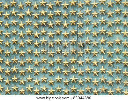 Stars on Wall at World War II Memorial