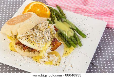Lump Crab On Eggs Benedict