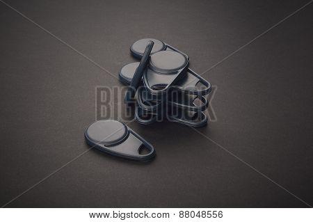Tag, Card, Id Key For Interphone On Dark Background