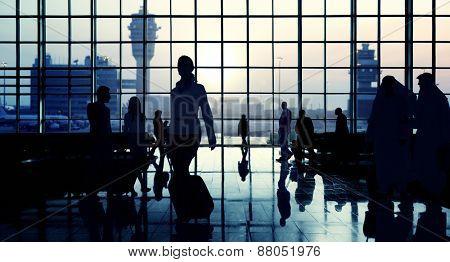 International Airport Communter Passenger Traveling Concept
