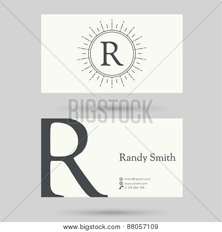 Trendy business card template.