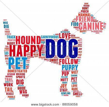 Dog Shaped Dog Word Cloud