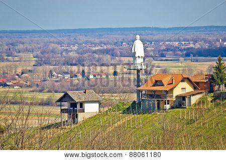 Saint Vinko Lookout Tower And Statue