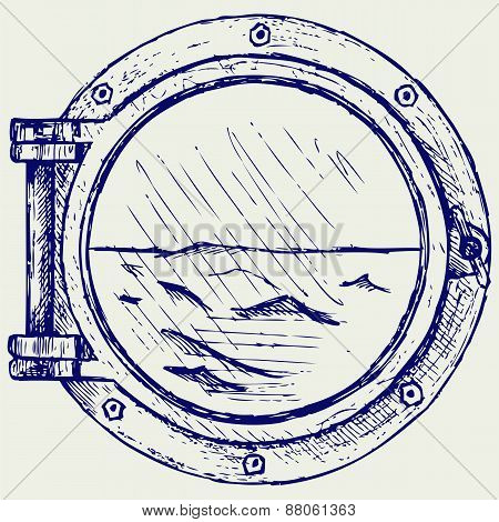 Metallic porthole