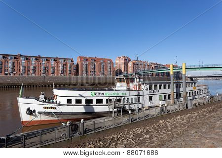 Old Ship In The City Of Bremen