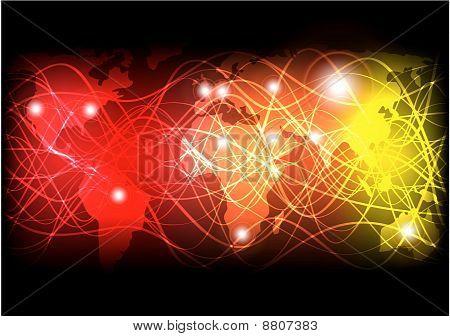 Glowing Optical Fibers