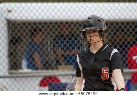 Female Fastpitch Softball Player In The Batters Box