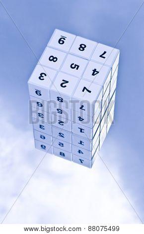 Sudoku game cube