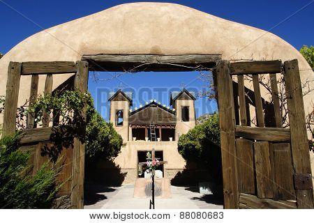 Santuario De Chimayo Mission-style Church In Chimayo, New Mexico