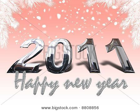 2011 happy new year, 3D Illustration Christmas Background