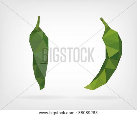Low Poly Green Anaheim Pepper