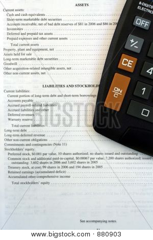 Corporate Balance Sheet & Calculator