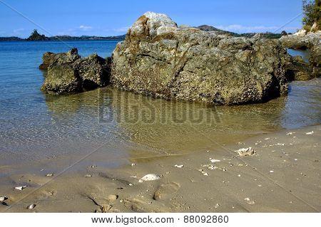 Rocks And Water In Mamoko Bay