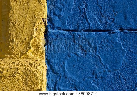 Colored Wall Yellow And Blue
