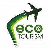Ecotourism design concept. poster