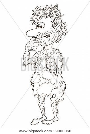 The caveman man, contours
