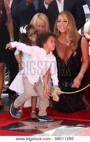 , LOS ANGELES - AUG 5:  Monroe Cannon, Moroccan Cannon, Mariah Carey at the Mariah Carey Hollywood Walk of Fame Ceremony at the W Hollywood on August 5, 2015 in Los Angeles, CA