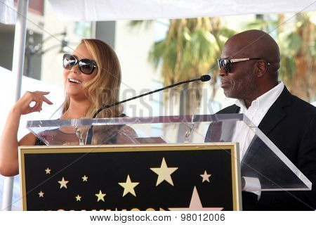 , LOS ANGELES - AUG 5:  Mariah Carey, LA Reid at the Mariah Carey Hollywood Walk of Fame Ceremony at the W Hollywood on August 5, 2015 in Los Angeles, CA
